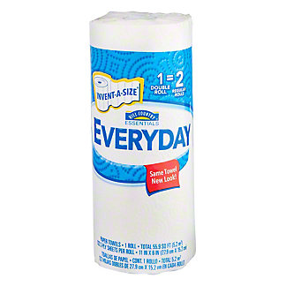 Hill Country Essentials Everyday Invent-A-Size Double Roll Paper Towels, 1 ct
