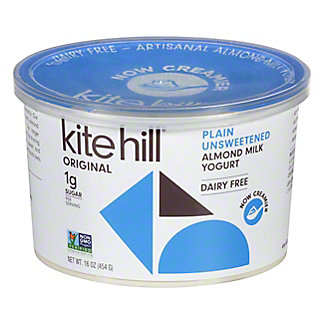 Kite Hill Plain Unsweetened Almond Milk Yogurt, 16 oz