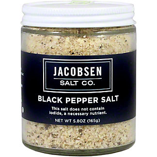Jacobsen Black Pepper Salt Jar, 5.3 oz