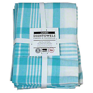 Now Designs Teatowel Pure Kitchen Bali Blue Set 3, Ea