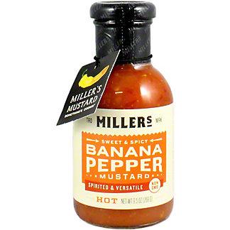 Millers Banana Pepper Hot Mustard, 9.6 oz