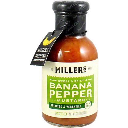 Millers Banana Pepper Mild Mustard, 9.6 oz