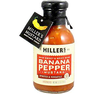 Millers Banana Pepper Habanero Mustard, 9.6 oz
