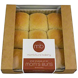 Moms Buns Plain Yeast Rolls, 18 oz