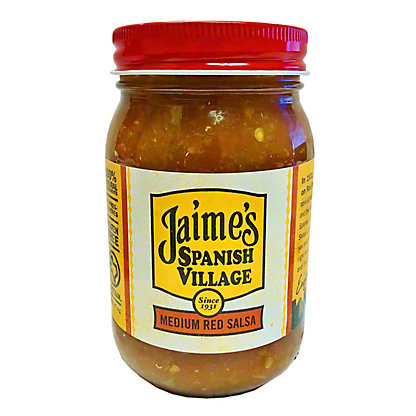 Jamies Spanish Village Medium Red Salsa, 16 oz