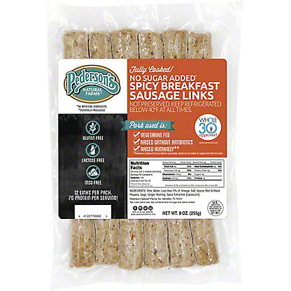 Pederson's Fully Cooked Spicy Breakfast Links, 9 oz
