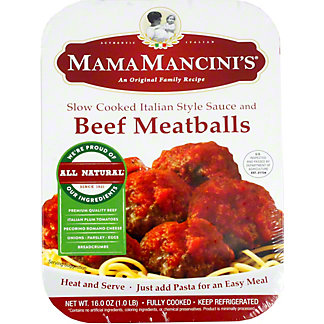 Mama Mancini Beef Meatballs, 16 oz