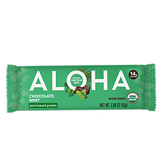 Aloha Chocolate Mint Plant Based Protein Bar, 1.9 oz