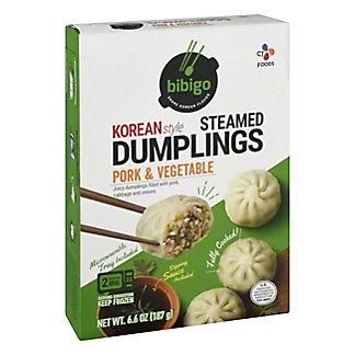 Bibigo Pork & Vegetable Steamed Dumplings, 6.6 oz