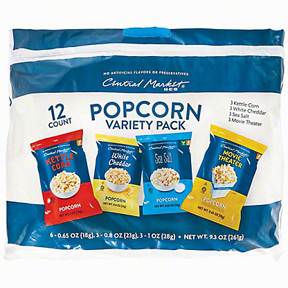 Central Market Popcorn Variety Pack, 12 ct