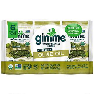 Gimme Organic Seaweed Snacks Olive Oil, 6/.17 oz