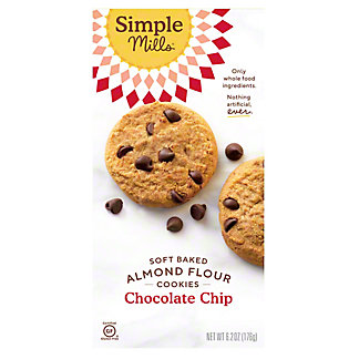 Simple Mills Soft Baked Cookie Chocolate Chip, 6.2 oz