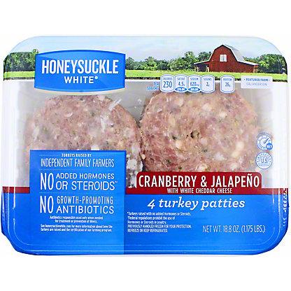 Honeysuckle White Cranberry & Jalapeno Turkey Patties, 4 ct