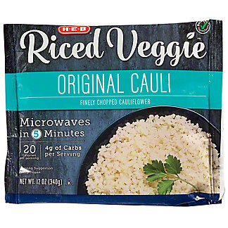 H-E-B Select Ingredients Riced Original Cauliflower, 12 oz