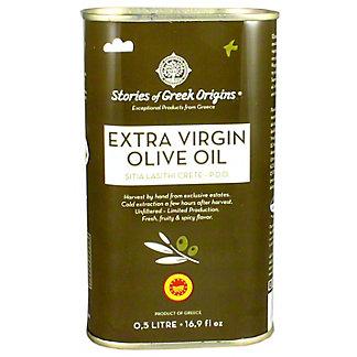 Stories Of Greek Origins Extra Virgin Olive Oil Metal Tin, 16.9 oz