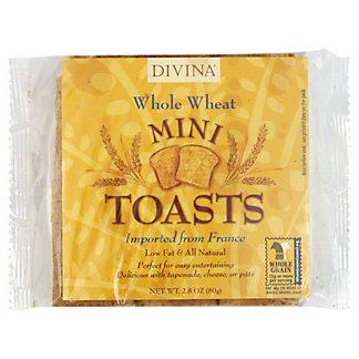 Divina Mini Toasts Whole Wheat Divina, 2.8 oz