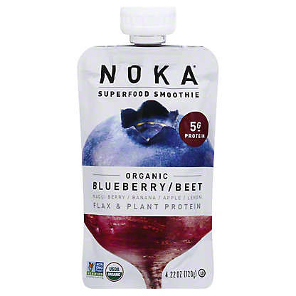 Noka Organic Superfood Smoothie Blueberry Beet, 4.22 oz