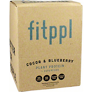 Fitppl Cocoa & Blueberry Plant Protein Box, 8.5 oz