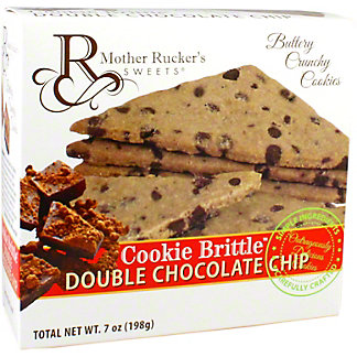 Mother Rucker's Sweets Cookie Brittle Double Chocolate Chip, 7 oz