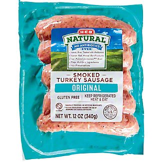 H-E-B Natural Turkey Sausage Links, 5 ct