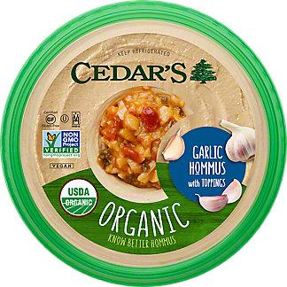 Cedars Organic Garlic Hummus, 10 OZ