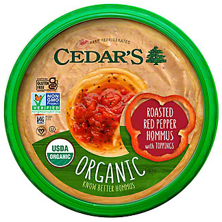 Cedars Organic Roasted Red Hummus, 10 oz