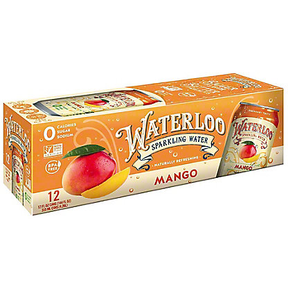 Waterloo Sparkling Water Mango, 12 pk