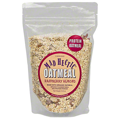 Mad Hectic Protein Oatmeal Raspberry Almond, 12.8 oz