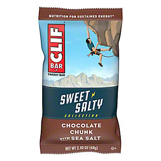 Clif Sweet & Salty Chocolate Chunky with Sea Salt Energy Bar, 2.4 oz