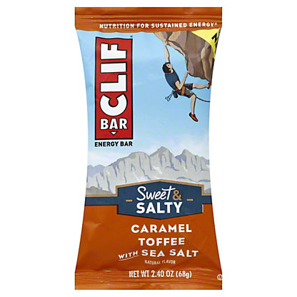 Clif Sweet & Salty Caramel Toffee with Sea Salt Energy Bar, 2.4 oz