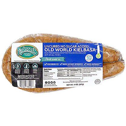 Pedersons Uncured No Sugar Added Old World Kielbasa, 14 oz