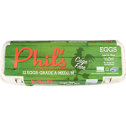 Phils Fresh Eggs Grade A Medium, Doz