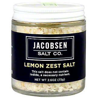 Jacobsen Salt Lemon Zest Infused Salt, 3.5 oz