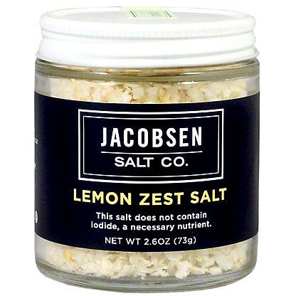 Jacobsen Salt Lemon Zest Infused Salt, 3.5 oz