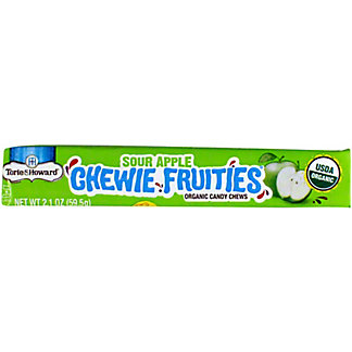 Torie & Howard Sour Apple Chewie Fruitie Stick, 2.1 OZ