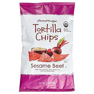Central Market Sesame Beet Tortilla Chips, 12 oz