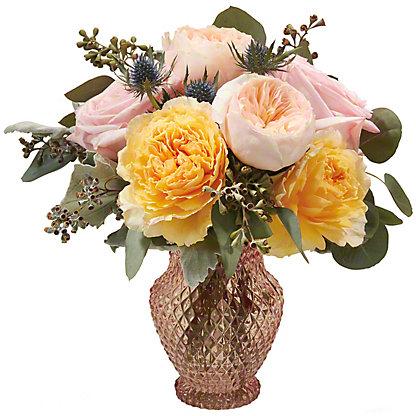 Central Market Garden Rose Medley Vase Arrangement, ea