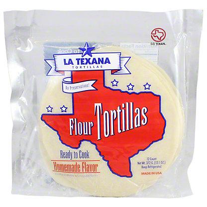 La Texana Ready to Cook Flour Tortillas, 12 ct