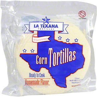 La Texana Ready to Cook Corn Tortillas, 12 ct