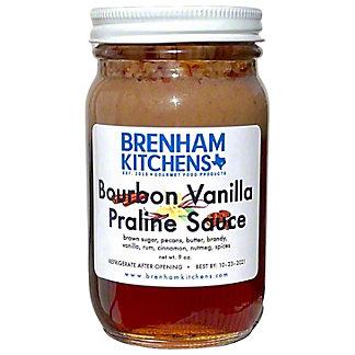 Brenham Kitchens Bourbon Vanilla Praline Sauce, 9 oz