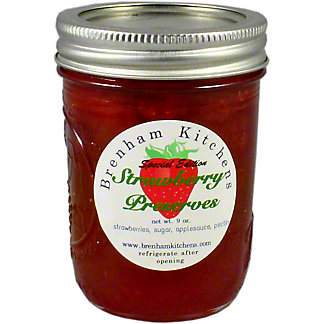 Brenham Kitchen Strawberry Preserves, 9 oz