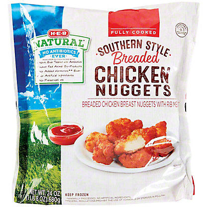 H-E-B Fully Cooked Southern Style Breaded Chicken Nuggets, 24 oz