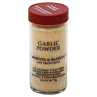 Morton & Bassett Garlic Powder, 2.6 oz