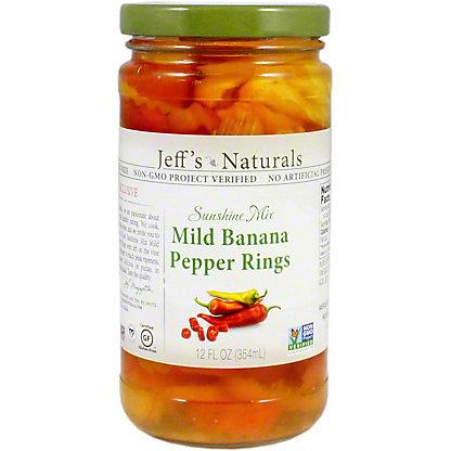 Jeff's Naturals Mild Banana Pepper Rings, 12.2 OZ