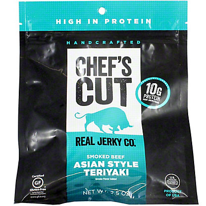 Chefs Cut Real Jerky Co. Smoked Asian Teriyaki Beef Jerky, 2.5 oz
