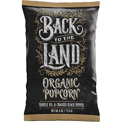 Back To The Land Popcorn Truffle Oil & Cracked, 4 oz
