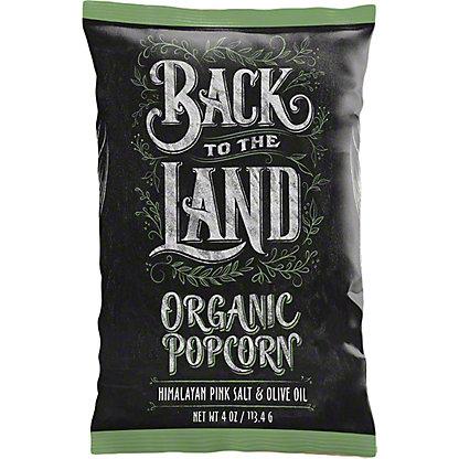 Back To The Land Popcorn Olive Oil& Himalayan Pink Salt, 4 oz