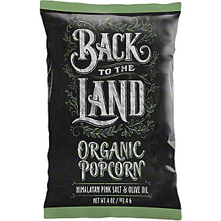 Back To The Land Popcorn Olive Oil& Himalayan Pink Salt, 4 oz