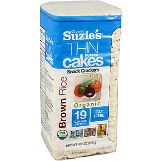 Suzies Rice Cake Brown Rice Unsalted, 4.9 oz