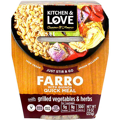 Kitchen and Love Farro Garlic Vegetable Herb, 7.9 OZ